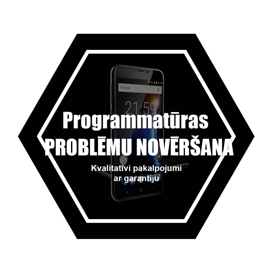 telefona programmatūras problēmu novēršana