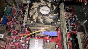 Putekļi, kas uzkrājas datorā